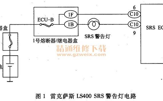 雷克萨斯LS400安全气囊系统故障码无法清除